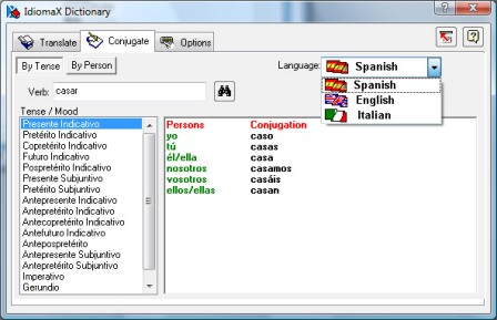 IdiomaX Dictionary Screenshot