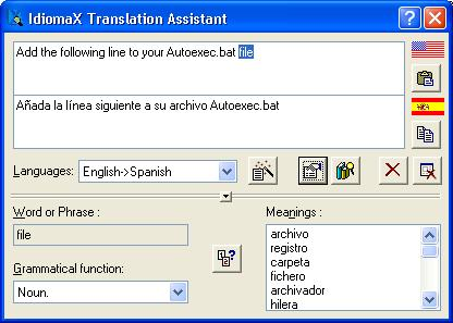 Click to view IdiomaX Translation Assistant 6.00 screenshot