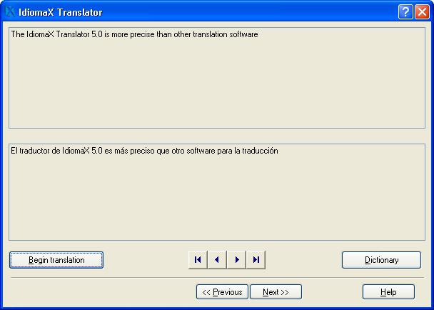 Click to view IdiomaX Translator 6.00 screenshot